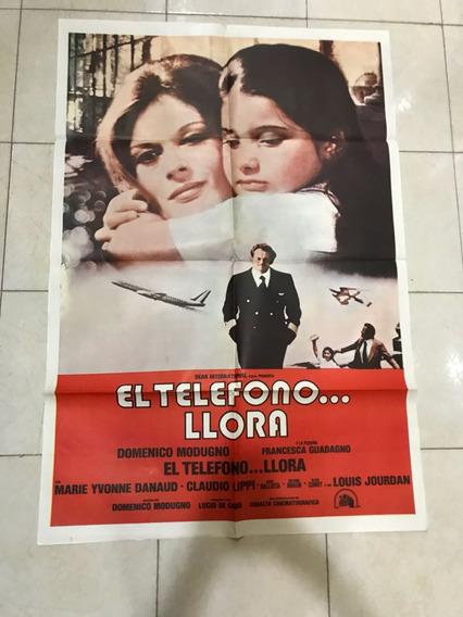 Antiguo Afiche De Cine Con Domenico Moudugno- Envio