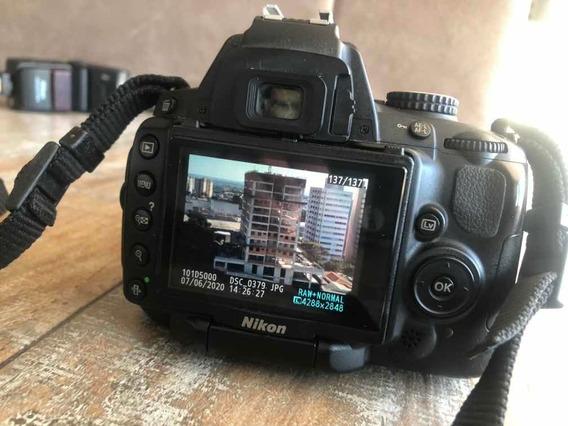 Câmera Nikon D5000 Com Lente 18-55
