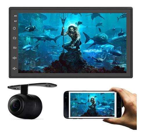 Imagen 1 de 10 de Estereo Doble Din Gps Android 8.1 Bluetooth 1+16g Multimedia