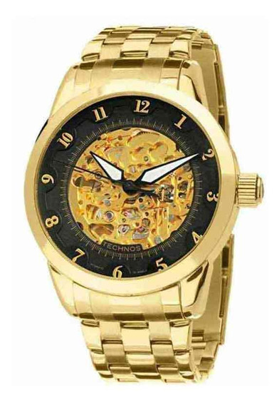 Relógio Technos Masculino Automático Dourado 8n24ac/4p +nf