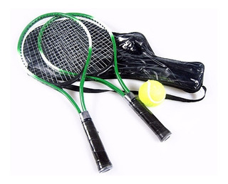 Raqueta Set X2 Recreativa Tennis Con Pelota Niños Raquetas