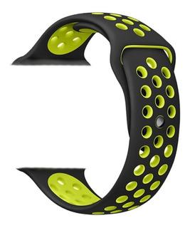 Malla Silicona Apple Watch Deportiva 38 40 42 44 Mm Serie 1 2 3 4