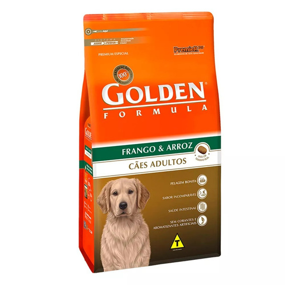 Golden Formula Cães Adulto Frango/carne E Arroz 3kg - Ssa