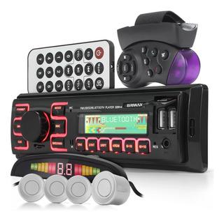 Kit Radio Automotivo Bluetooth Carro Sensor Estacionamento