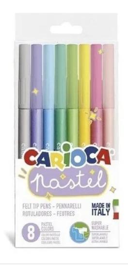Marcadores Carioca Pastel X 8 Made In Italy