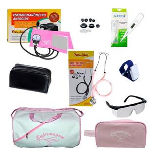 Kit Para Enfermagem Completo Pa Premium - Rosa