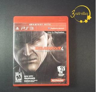 Metal Gear Solid 4 Ps3 Guns Of The Patriots / 3 Estrellas