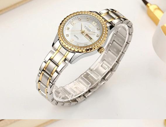 Relógio De Pulso Feminino Wwoor 8856 Varias Cores