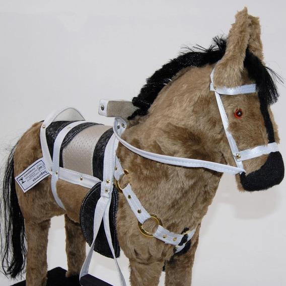 Cavalo De Balanço Super Luxo Brinquedo Infantil Para Meninos E Meninas De 2 A 7 Anos Cavalinho Para Montar Peso Ate 70kg