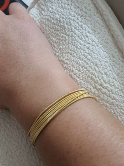 Pulseira Corda De Violão Ouro 18k Usada