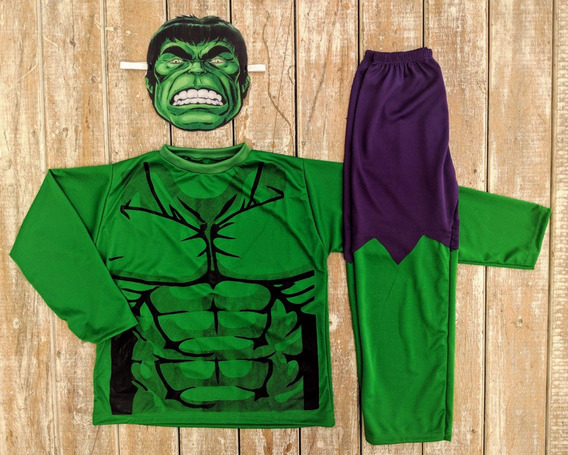 Día Del Niño! Disfraz Infantil Increíble Hulk Mangas Largas
