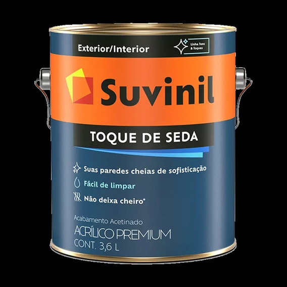 Tinta Parede Suvinil Acetinado Lavavel Preto 3,6lt