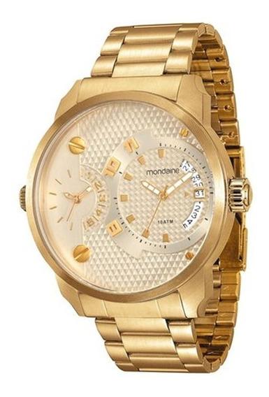 Relógio Mondaine Masculino Dourado Grande 78527gpmvda3