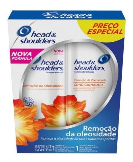 Kit Head & Shoulders Shampoo + Cond Remoção De Oleo 200ml
