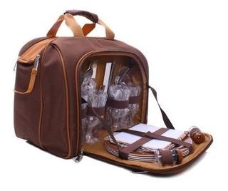 Bolsa Térmica Com Kit Picnic 4 Pessoas - Guepardo