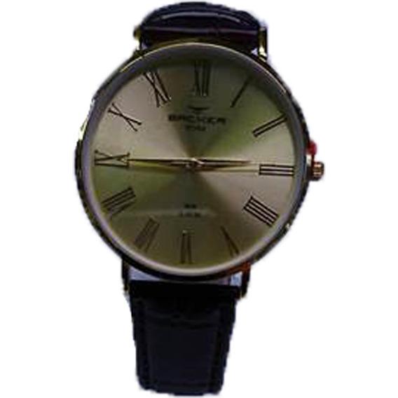 Relógio De Couro Masculino Backer - 10807142m Promoção + Nf