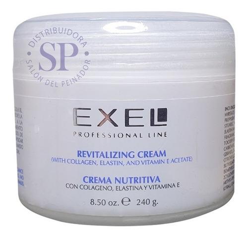 Imagen 1 de 3 de Crema Facial Exel Nutritiva Colageno Elastina Y Vita E X240g