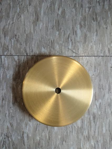 Canopla 12cm Alumínio Cor Dourada P/ Luminária, Pendente