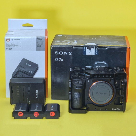 Sony Alpha A7 Iii A7iii A73 Kit 6k Clicks 12,5 Mil A Vista