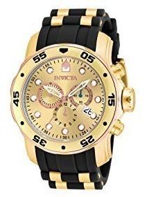 Relógio Masculino Invicta 17884 - Pro Diver Banhado A Ouro