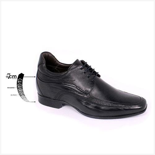 Zapato Formal Manager Negro Max Denegri +7cms De Altura
