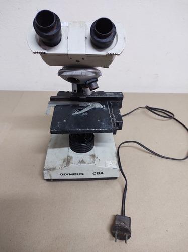 Microscópio Olympus Cba-no Estado- Leia Anúncio