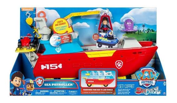 Paw Patrol Barco Sea Patroller C/sonido Y Acc Int 16737 Orig