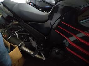 Kawasaki Zx14r Preta 12/13 Com Queda
