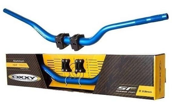 Guidao Naked Oxxy Fat Bar 31,8mm Azul (kit Adap+pad)