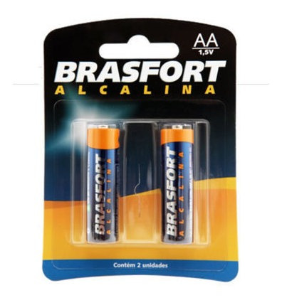 Pilha Brasfort Alcalina Aa Com 2