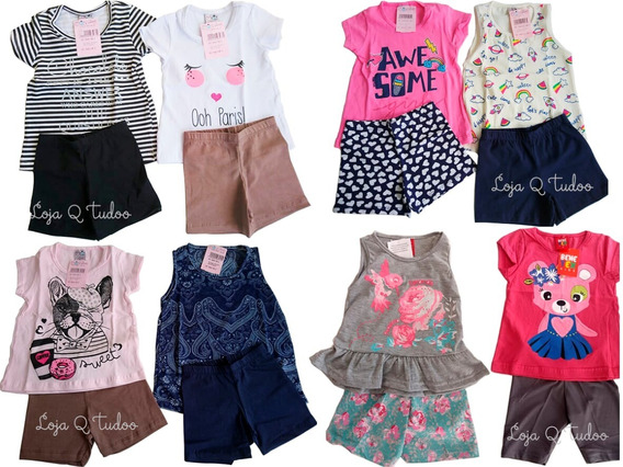 Lote Roupa Infantil Atacado 07 Conjunto Bebê Menina Sortidos