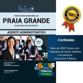 Apostila Agente Administrativo Prefeitura Praia Grande Sp