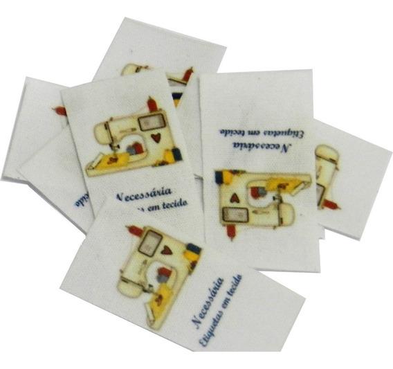 Etiqueta Tecido Algodão Personalizada - 2x4cm - 100unidades