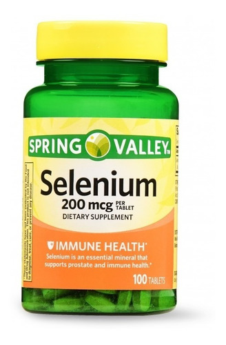 Selenio 200mcg, 100 Tabletas, Spring Valley