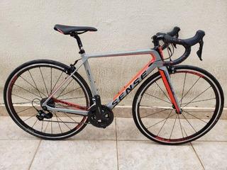 Bicicleta Sense Prologue Tamanho P Com Pedais E Fita Supacaz