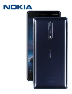 Nokia 8 Azul Pulido, 64gb, Liberado, Sellado, Envío Gratis!