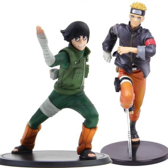 Naruto Shippuden E Rock Lee 2pçs Figuras De Açao