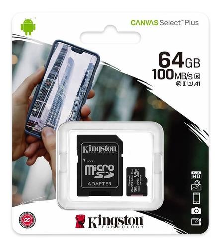 Imagen 1 de 6 de Memoria Kingston Micro Sd 64gb Velocidad Rapida