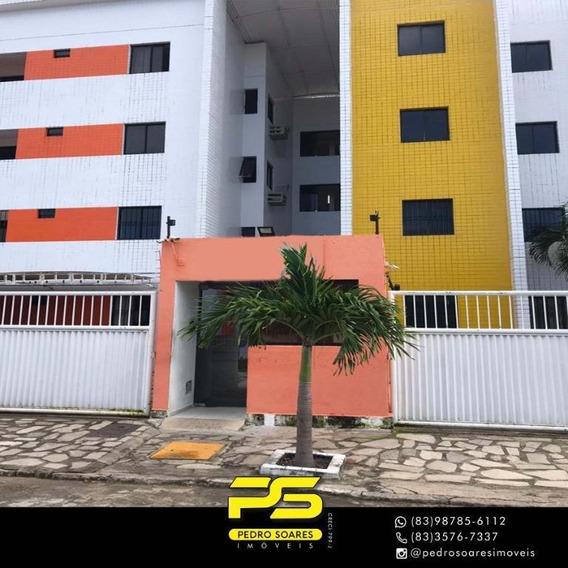 Apartamento Com 1 Dormitório Para Alugar, 45 M² Por R$ 650/mês - Jardim Cidade Universitária - João Pessoa/pb - Ap3264