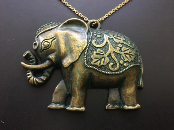 Collar Elefante De La Buena Suerte Cadena Acero Inoxidable
