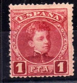 Estampilla España Numero 223 Año 1901 36 Euros Catalogo