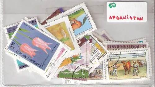 Lote De 50 Estampillas De Afganistan Distintas ¡ Oferta !