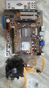 Kit Lga 775 Placa Mãe + Pentium Dual Core + 4gb Ram 2x2