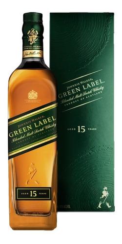 Whisky Johnnie Walker Green Label Blend 15 Años 750ml