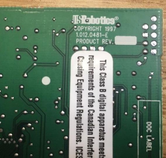 Modem Hp Usrobotics 56k Sportster 0481 (isa)