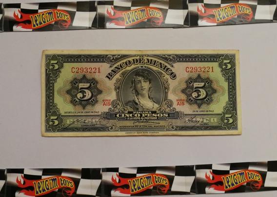 Billete De 5 Pesos De La Gitana # C293221 (b-2)