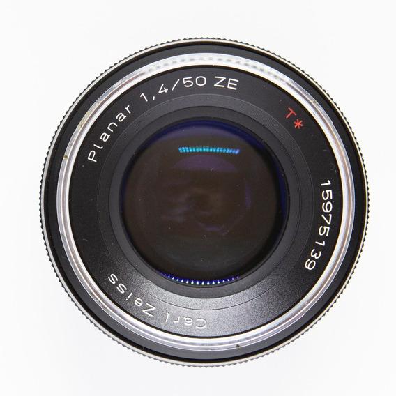 Lente Zeiss Planar T* 50mm F/1.4   Canon Em 12x Sem Juros!