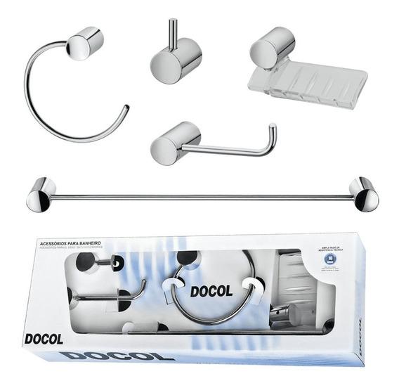 Kit Acessórios Para Banheiro Single Chrome Docol