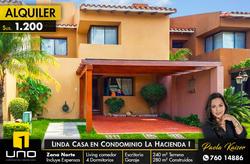 Linda Casa En Alquiler En Condominio