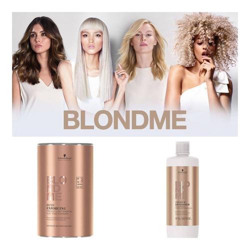 Schwarzkopf Blondme - Decolorante En Polvo Y Agua Oxi. 20vol